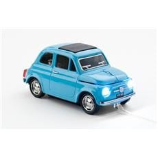 Myš CLICK CAR MOUSE Fiat 500 Oldtimer Blue (USB Wired)