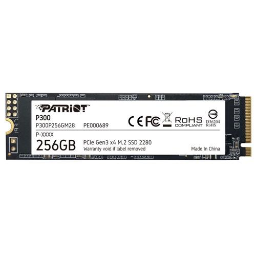 SSD 256GB PATRIOT P300 M.2 2280 PCIe NVMe