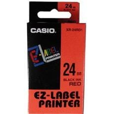 Páska CASIO XR-24RD1 Black On Red Tape EZ Label Printer (24mm)