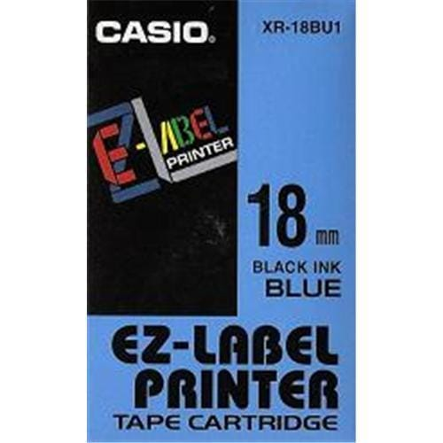 Páska CASIO XR-18BU1 Black On Blue Tape EZ Label Printer (18mm)