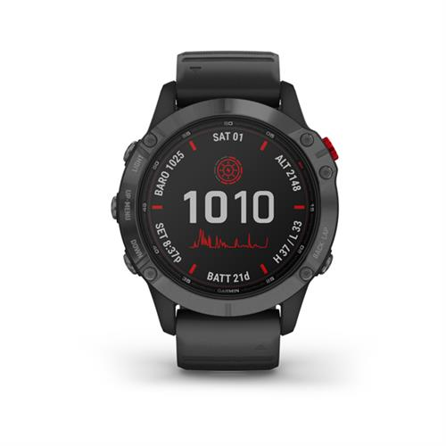 Garmin fenix 6 Pro Solar, Slate Gray, Black Band