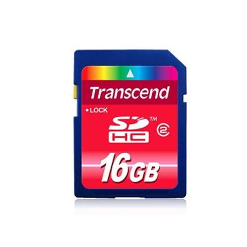 Transcend 16GB SDHC (SD 2.0 Class 4) memory card
