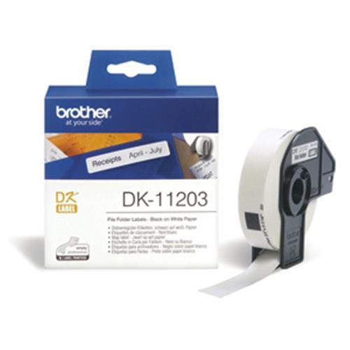 Rolka BROTHER DK11203 File Folder Labels (300 ks)