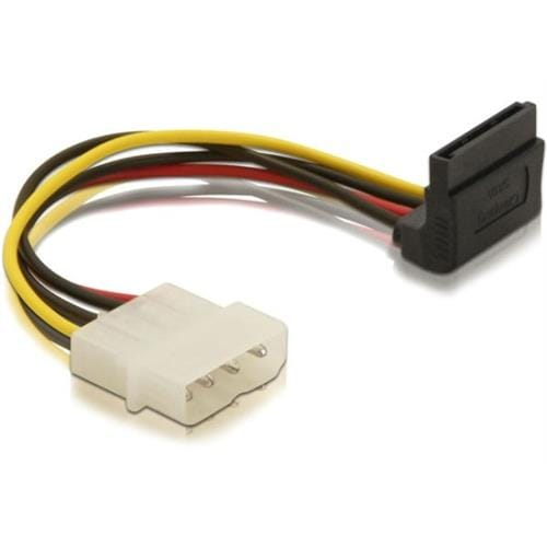 Power Adapter Molex 4-pin samica na 1x SATA 15-pin kolmý nahor