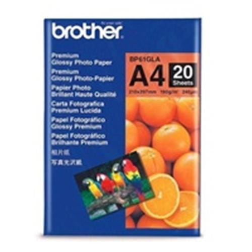 Papier BROTHER BP61 Premium foto lesklý A4/20ks