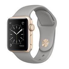 Apple Watch Series 1, 38mm Gold Aluminium Case with Concrete Sport Band