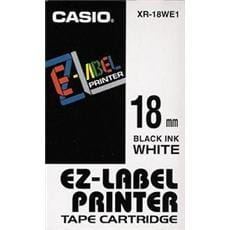 Páska CASIO XR-18WE1 Black On White Tape EZ Label Printer (18mm)
