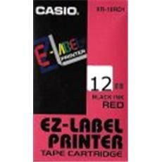 Páska CASIO XR-12RD1 Black On Red Tape EZ Label Printer (12mm)