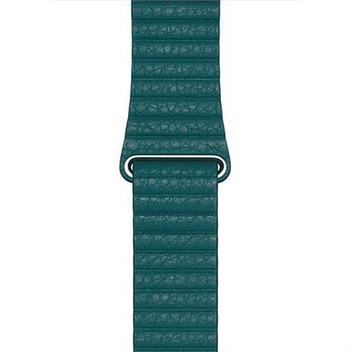 Apple Watch 44mm Peacock Leather Loop - Large