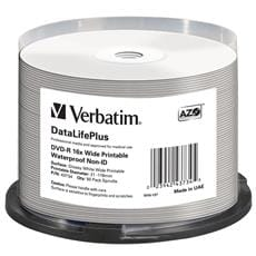 Média DVD-R Verbatim spindle 50, 4.7GB, 16x, wide glossy