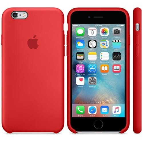 Apple iPhone 6S Silicone Case Red