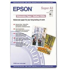 Papier EPSON S041352 Watercolour radiant white 190g/m2, A3+