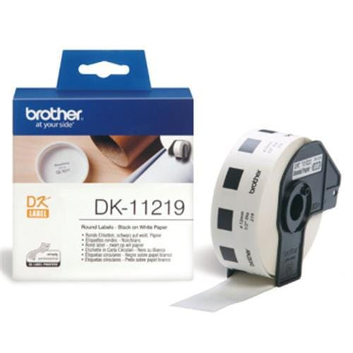 Rolka BROTHER DK11219 Round Labels (1200 ks)