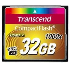 Transcend 32GB CF Card (1000X)