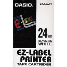 Páska CASIO XR-24WE1 Black On White Tape EZ Label Printer (24mm)